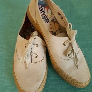 Born beige leather sneakers 9.5